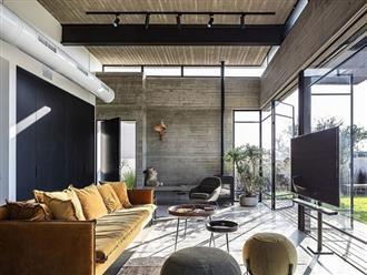 Ngôi nhà nằm giữa vùng quê yên bình với nét thiết kế cởi mở và hiện đại
