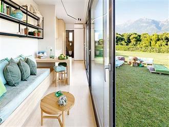 Ngôi nhà sinh thái bằng gỗ thân thiện với môi trường được hoàn thiện chỉ trong 1 tháng