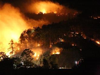 Người dân Hà Tĩnh hốt hoảng sơ tán trong đêm vì cháy rừng trên diện rộng