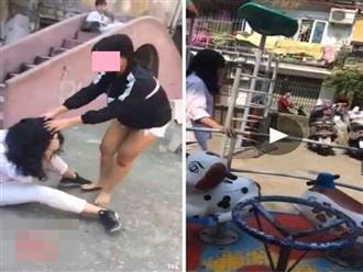 Clip: Mẹ đau đớn nhờ dân mạng truy tìm nữ sinh đánh con mình bầm dập chỉ vì nghi nhìn đểu