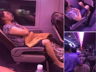 Người phụ nữ giả ngất không cho người khác ngồi cạnh trên tàu, ngang nhiên chiếm 2 ghế khiến dân mạng chán ngán