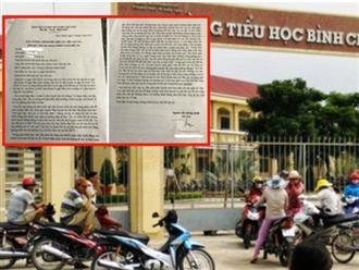 """Nhân chứng vụ cô giáo quỳ xin lỗi: """"Quỳ 40 phút ông Thuận mới chịu"""""""