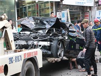 Ô tô đâm 5 xe trên phố Ngọc Khánh, cụ bà bán hàng rong đi bộ tử vong