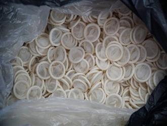 Ớn lạnh với hàng đống bao cao su giả ở TP HCM
