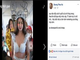 Sao Việt, dư luận phẫn nộ với clip người mẫu mặc bikini đón U23 VN