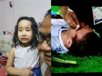 Bé gái 4 tuổi khóc hết nước mắt khi thấy Quang Hải, Duy Mạnh bị thương trên sân cỏ
