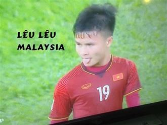 Việt Nam ghi 2 bàn thắng, Quang Hải 'lêu lêu' được đưa ra làm ảnh chế