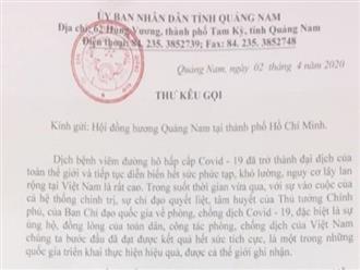 Quảng Nam vận động hỗ trợ người Quảng xa quê mùa dịch Covid-19