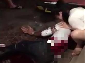 Truy bắt các sát thủ bịt mặt chém người ở chợ Rồng Nam Định