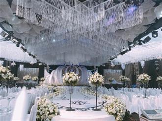 """""""Siêu đám cưới"""" ở Thái Nguyên trang trí hết 4 tỷ đồng với hơn 13.000 bông hoa tươi nhập khẩu thu hút nghìn người tới chụp ảnh"""