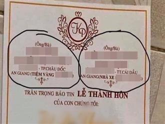 Tấm thiệp cưới gây tranh cãi nhất MXH hôm nay: In hẳn nghề nghiệp, gia thế giàu có lên thiệp