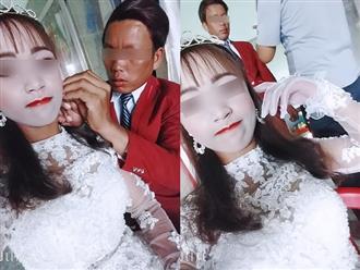 Thảm họa trang điểm ngày cưới: Mặt cô dâu trắng toát nổi bật bên chú rể có làn da đen bóng