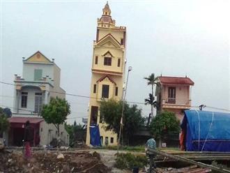Thực hư hình ảnh ngôi nhà 5 tầng nghiêng như sắp đổ tại Hà Nam