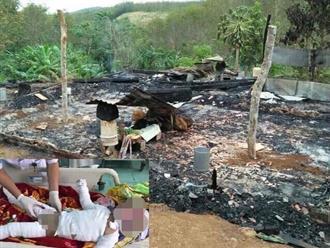 Tội nghiệp 2 cháu nhỏ gặp nạn do cháy nhà
