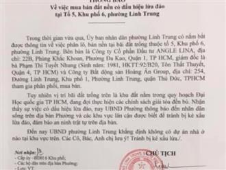 TP.HCM: Hai công ty BĐS táo tợn lấy đất Đại học Quốc gia phân lô bán nền