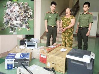 Triệt phá đường dây làm bằng giả quy mô cực lớn ở Nghệ An