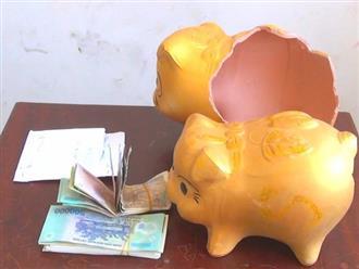 Trộm heo đất lấy tiền cho mẹ... sắm vàng