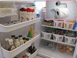 Dùng cuộn giấy vệ sinh và chanh theo cách này, tủ lạnh sạch mùi hôi thơm tho suốt cả tuần
