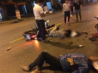 Bắc Ninh: Va chạm kinh hoàng trong đêm, 2 nam thanh niên đi Exciter thương vong, 1 thai phụ nhập viện cấp cứu