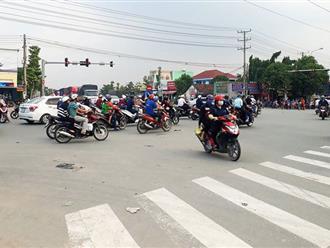 Bình Dương: Vi phạm giao thông, tài xế ô tô túm áo rồi dùng ghế đánh chiến sĩ CSGT