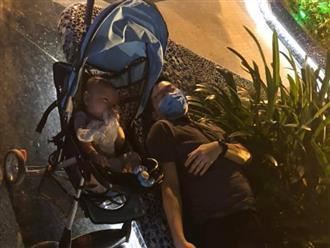 Vợ nhờ dẫn con đi hóng mát, chồng ngủ thẳng cẳng để con nằm bên đường khiến dân mạng tranh cãi