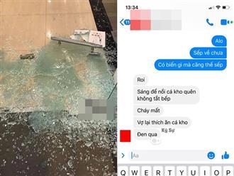Vợ giám đốc bỗng xông vào đập vỡ cửa kính, tưởng có 'biến' đánh ghen ai dè nguyên nhân lại thế này