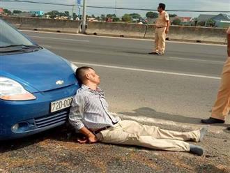Vợ tài xế côn đồ ép ngã đại uý CSGT chết thảm: 'Chồng tôi bị tâm thần nặng, lái trộm xe'