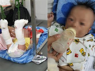 Vụ bé trai 4 tháng tuổi bị bạo hành gãy chân, xuất huyết não: Người cha tiết lộ nguyên nhân thật sự