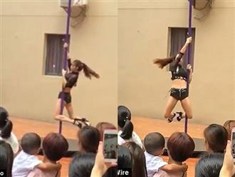 Clip vũ công mặc quần áo gợi cảm, múa cột trong lễ khai giảng trường mầm non gây tranh cãi
