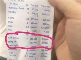 Vụ đĩa mồng tơi xào 250.000 đồng: Phạt nhà hàng 750.000 đồng