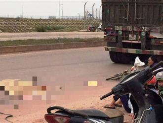 Xe đầu kéo cán tử vong người phụ nữ đi xe đạp từ phía sau