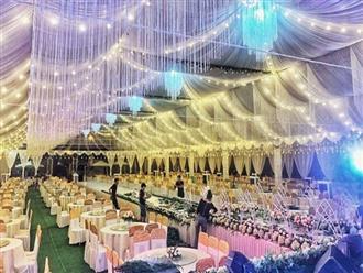 """Xôn xao rạp cưới """"khủng"""" được trang hoàng lộng lẫy trị giá hơn 800 triệu, dùng 100% hoa tươi ở Vĩnh Phúc"""