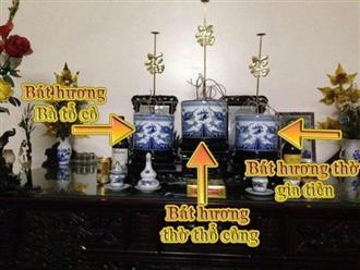 Tìm hiểu cách đặt bát hương trên bàn thờ chuẩn nhất