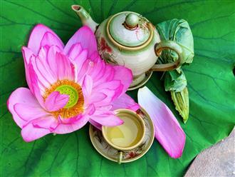 Mùa sen về, cô gái làng Tây Hồ chia sẻ bí quyết làm trà sen 'đúng điệu', thơm mát, uống tới đâu 'mát rười rượi' tới đó
