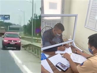 'Ngang nhiên' chạy ngược chiều trên cao tốc, nam tài xế bán tải bị xử phạt hành chính 17 triệu đồng