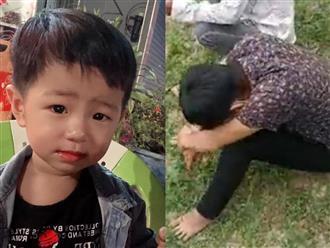 Nghẹn lòng hình ảnh người bố gục khóc tại hiện trường khi hay tin nghi tìm thấy thi thể con trai sau 5 ngày mất tích