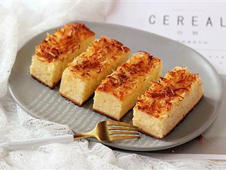 Mềm ngon thơm phức món bánh bông lan phủ dừa nướng
