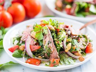 Làm ngay salad bò cho thực đơn ăn kiêng của gia đình
