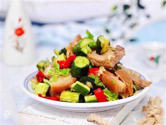 Ăn Keto giảm cân mà không biết món thịt trộn dưa chuột này thì thật phí quá!