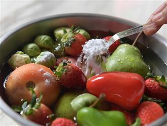 3 tips rửa rau củ giúp loại bỏ thuốc trừ sâu hiệu quả: 2 trong số đó đều dễ làm ngay trong bếp của bạn