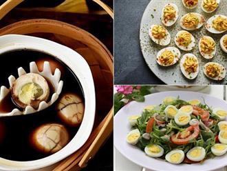 Ăn trứng luộc mãi không chán nếu bạn có những công thức cực ngon này