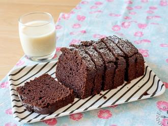 Cuối tuần làm ngay mẻ bánh chocolate mềm ẩm thơm ngon