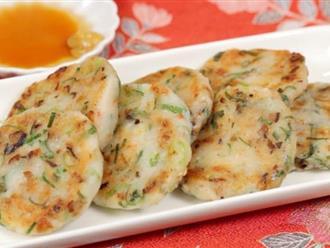 Cơm tối thêm phong phú với bánh củ cải làm thật dễ ăn thật ngon