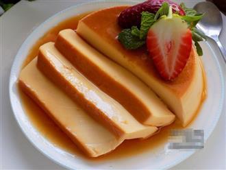 Bánh flan mềm thơm, mịn mượt, mát lạnh khiến ăn hết rồi cả nhà lại đòi làm nữa