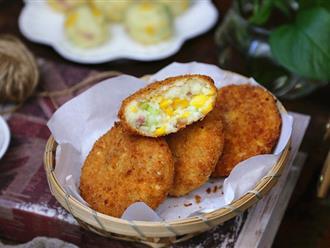 Làm bánh khoai cực dễ mà lại ngon cho bữa sáng thì cả ngày tươi vui đầy năng lượng