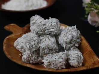 Dẻo mềm hấp dẫn món bánh khoai môn tẩm dừa