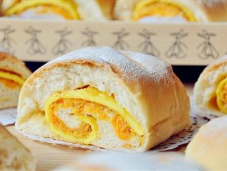 Bữa sáng chỉ cần một ổ bánh mì cuộn trứng chà bông cũng đủ no nê