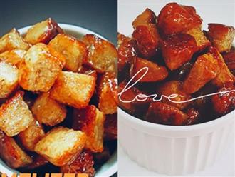 Bánh mì ngào đường caramel giòn rụm cực ngon ăn vặt hay ăn sáng đều hết nấc