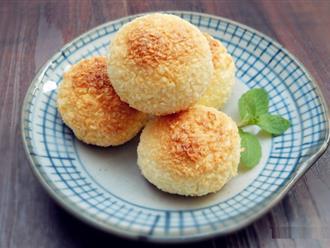 Mỗi khi rảnh rỗi tôi lại làm ngay một mẻ bánh núm dừa để dành cho con ăn vặt cả tuần