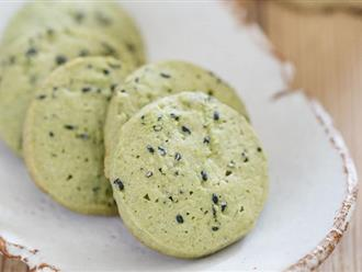 Làm bánh quy trà xanh đảm bảo khiến ai ăn cũng phải mê liền